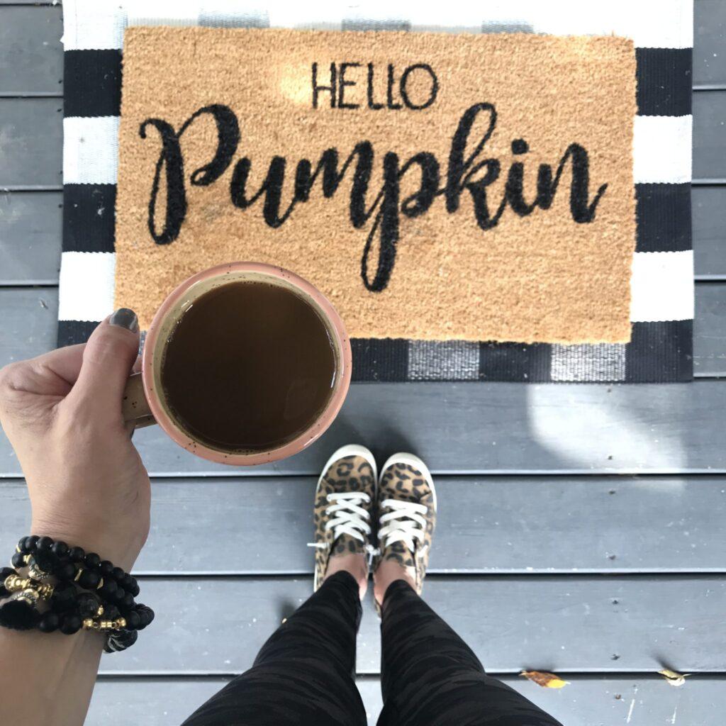 Fall outdoor rug and mat!