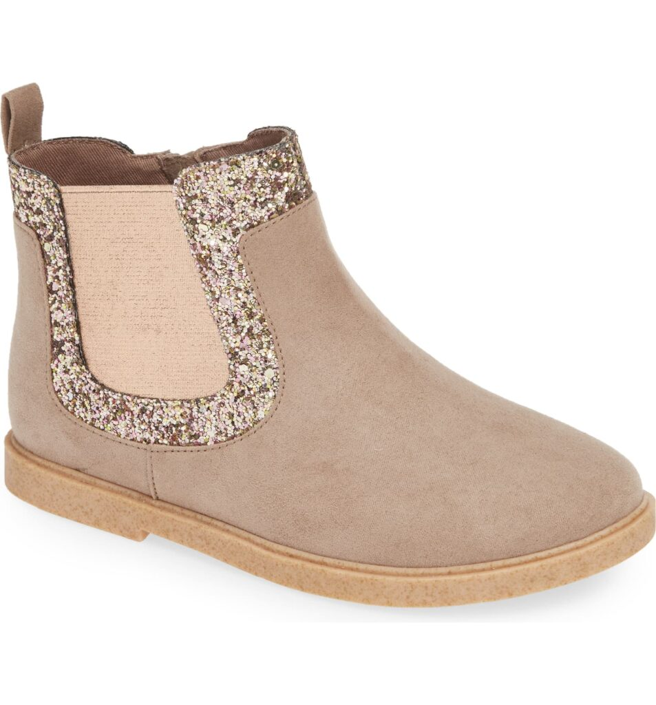 Glitter booties for oddler girls