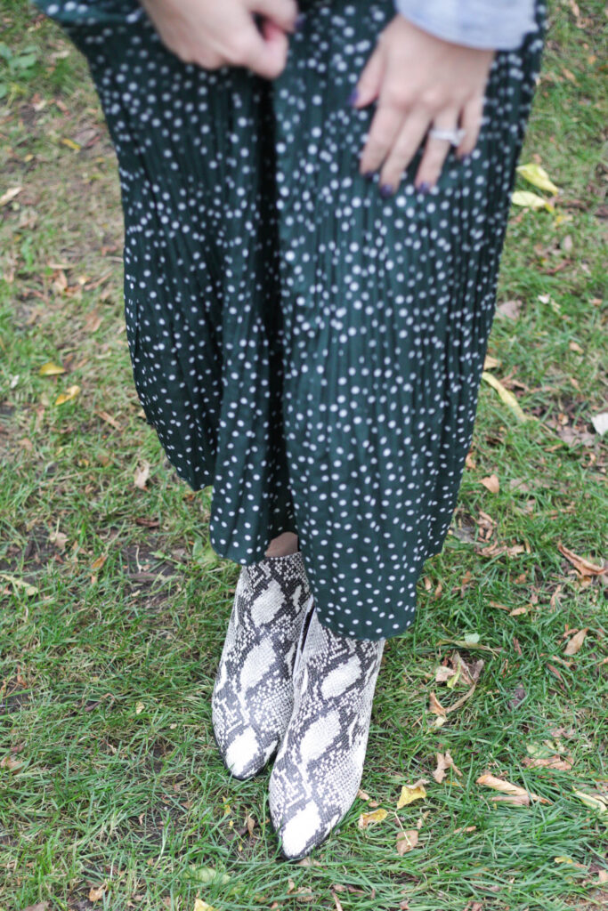 Snakeskin booties perfect for fall and winter