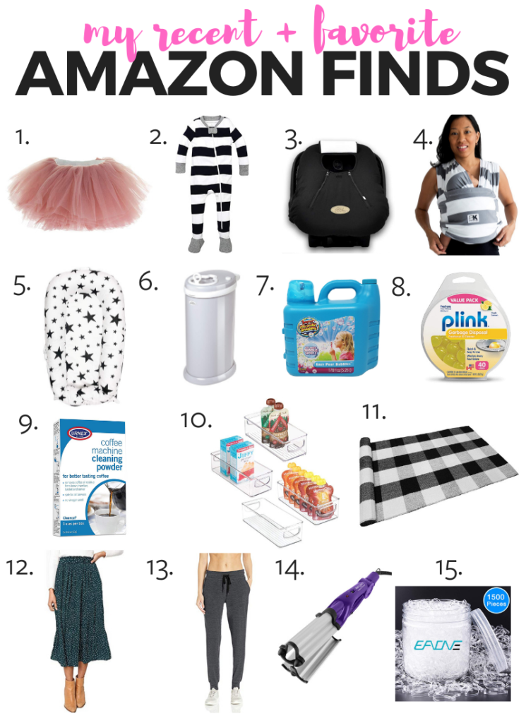 My recent and favorite Amazon finds! Everything from kids stuff to apparel to things to keep you organized. Check it out! #amazon