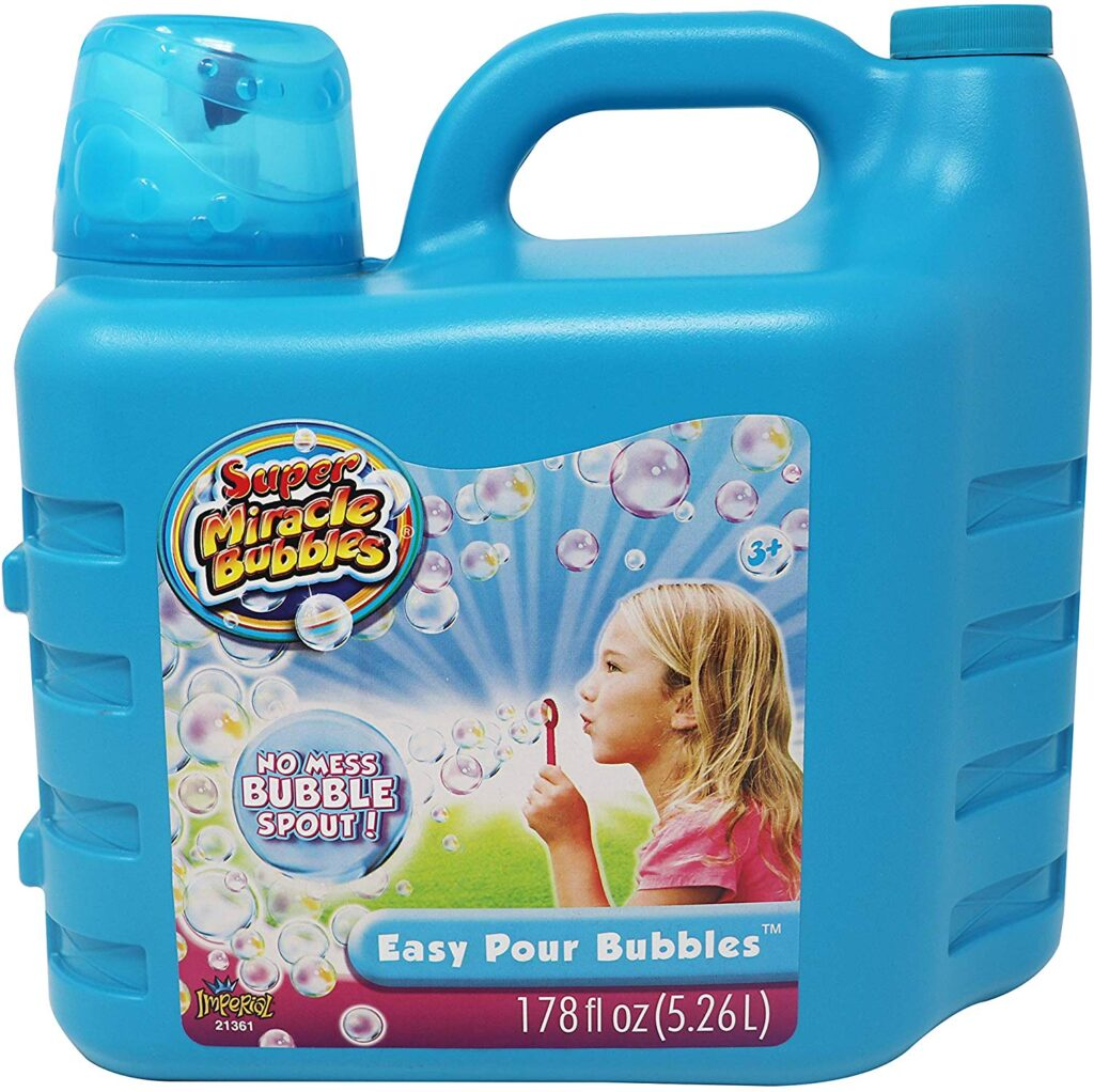 Always running out of bubbles for your kiddos? Save money and buy it less often by getting this giant easy pour bubbles!