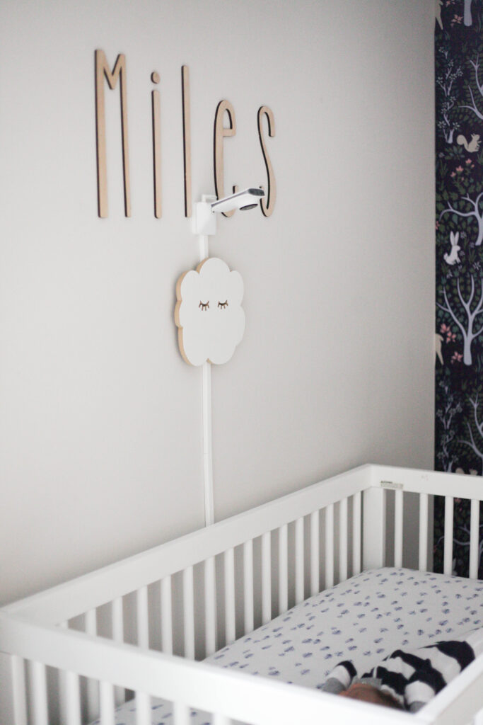 A classic looking baby monitor that detects breathing