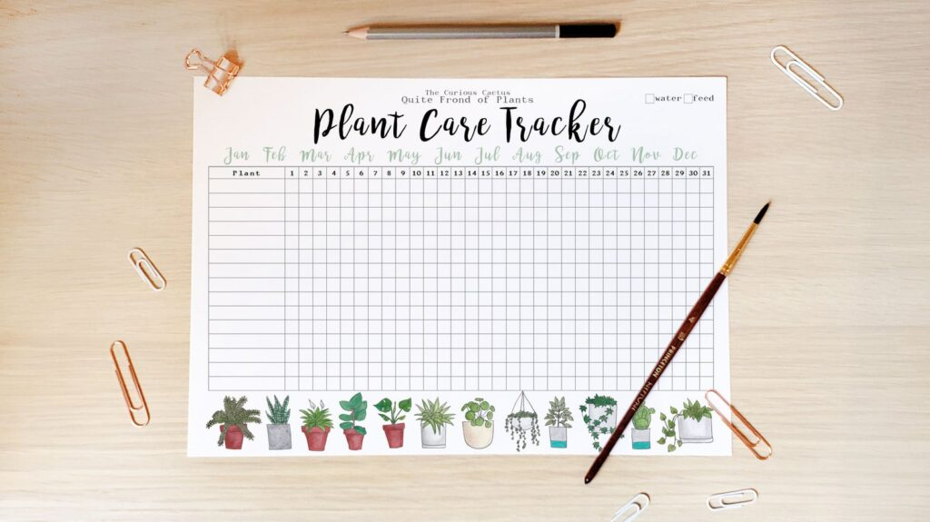 Plant care tracker sheet!