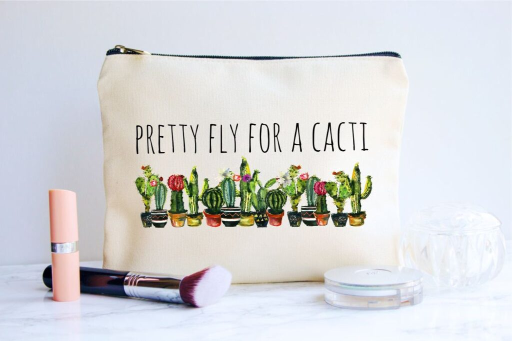 """Pretty Fly for a Cacti"" bag"