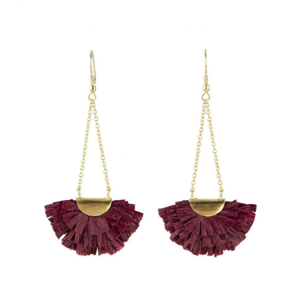 Raffia Fan Drop Earrings (Sseko) $39.99