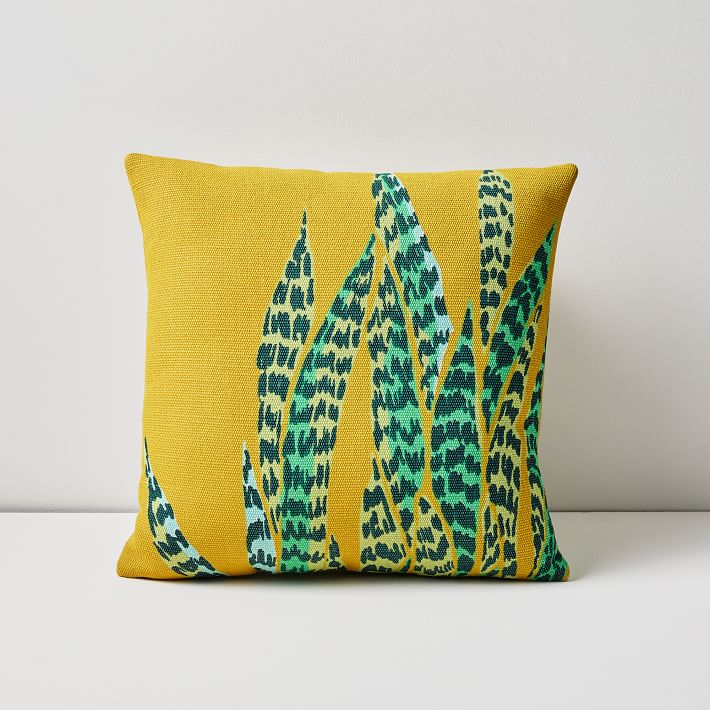 Snake plant pillow for indoors or outdoors.