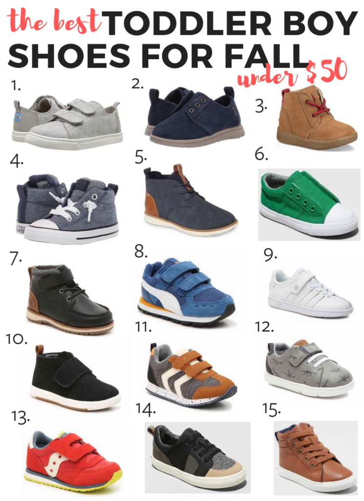 The best toddler shoes for boys! My fall picks all under $50!