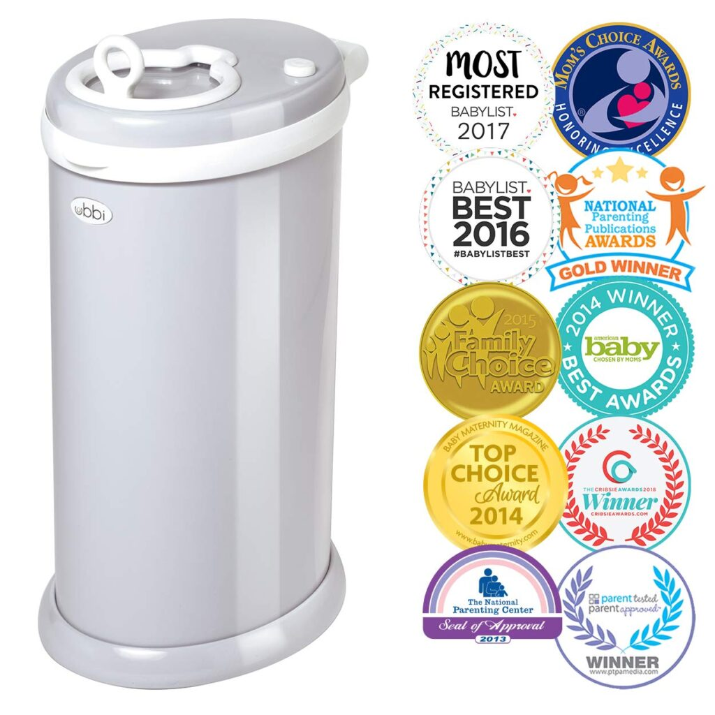 The BEST diaper pail on the market. Keeps the smell in and uses regular garbage bags!