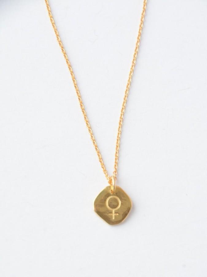 Virtuous Venus Necklace - 14K Gold (Fair Anita) $42