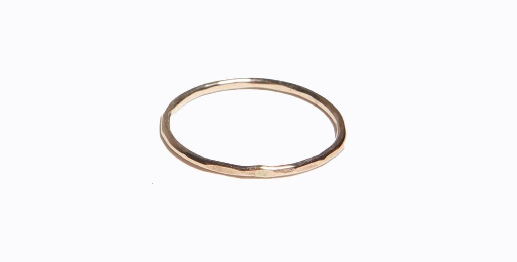 Hammered Stacking Ring (ABLE) $15