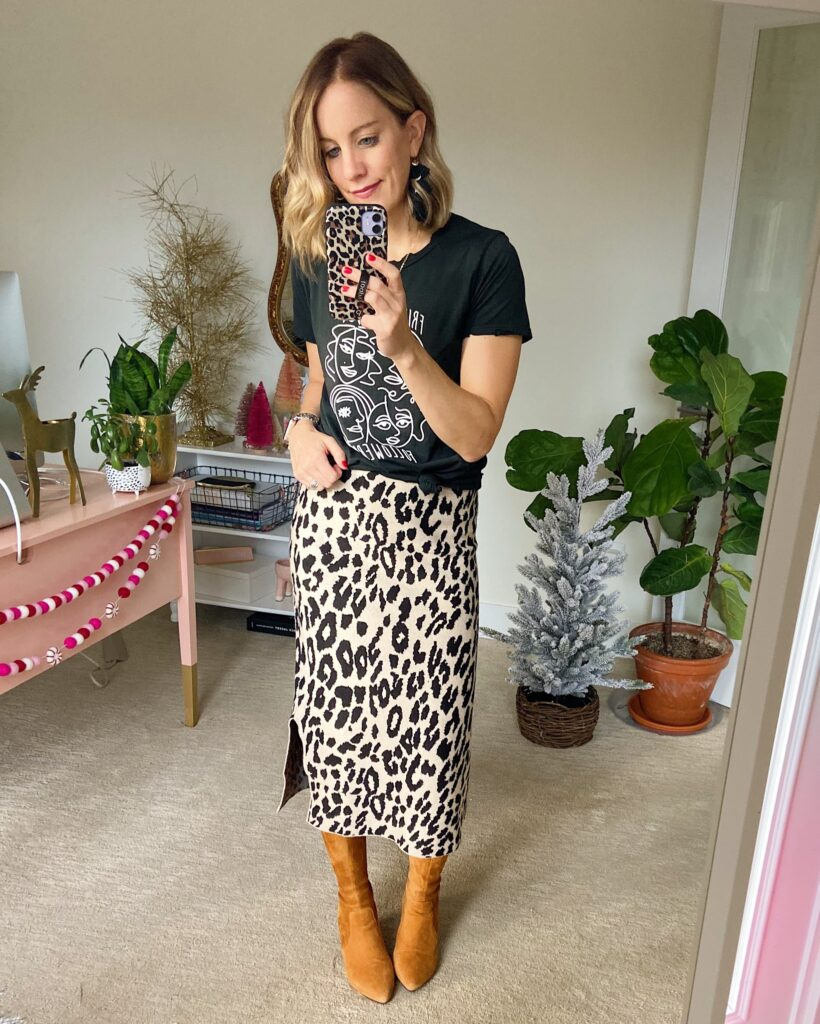 Thigh high boots outfit idea