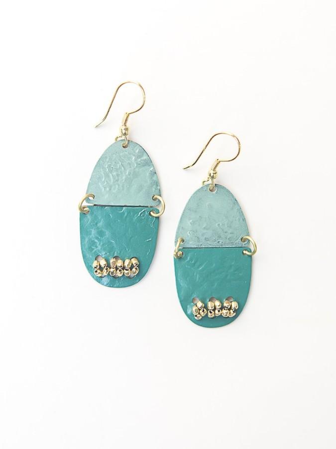 Parakeet Painted Earrings (Fair Anita) $16