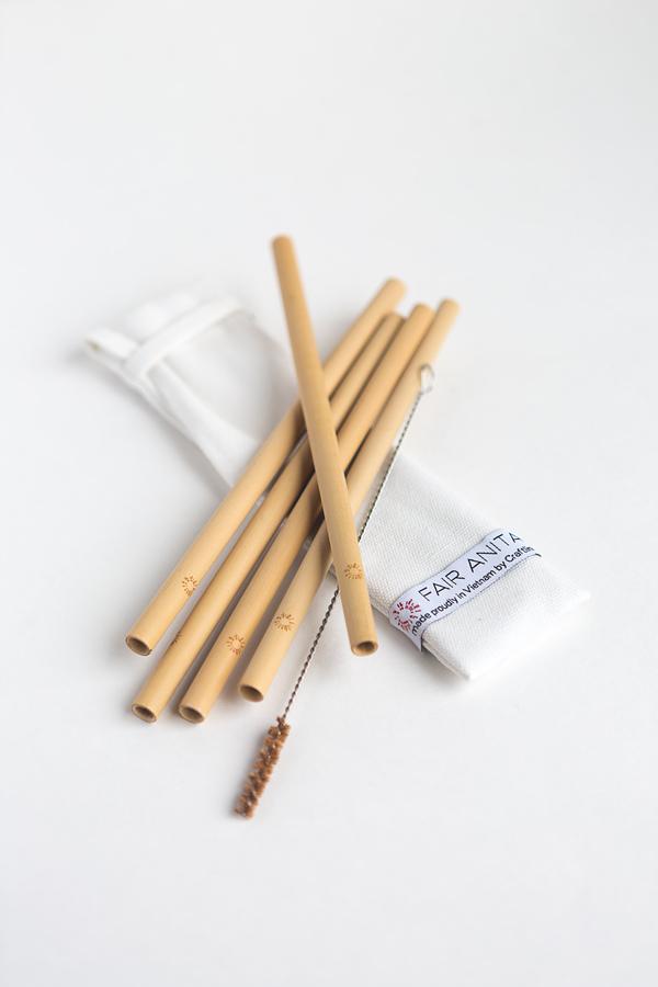 Sustainable Bamboo Straw Set (Fair Anita) $14