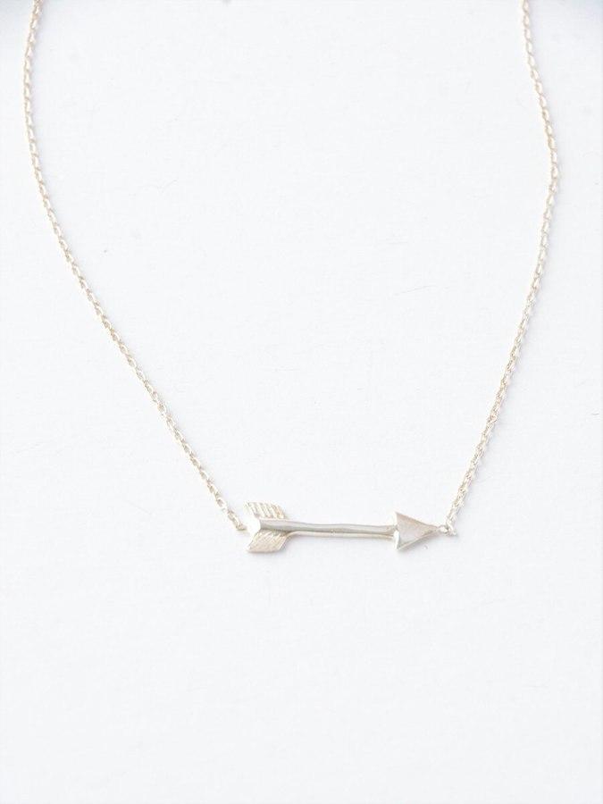 Wandering Arrow Sterling Necklace (Fair Anita) $42