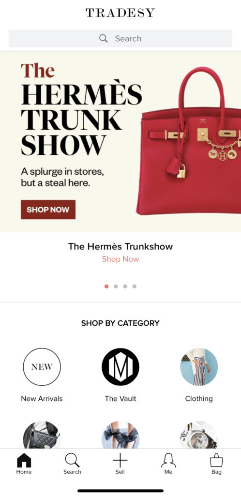 Sell luxury goods using Tradesy