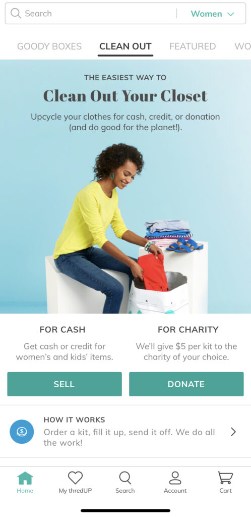 ThredUp - an easy place to sell you clothes for cash!