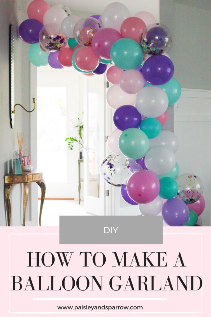 How to make a super easy balloon garland!