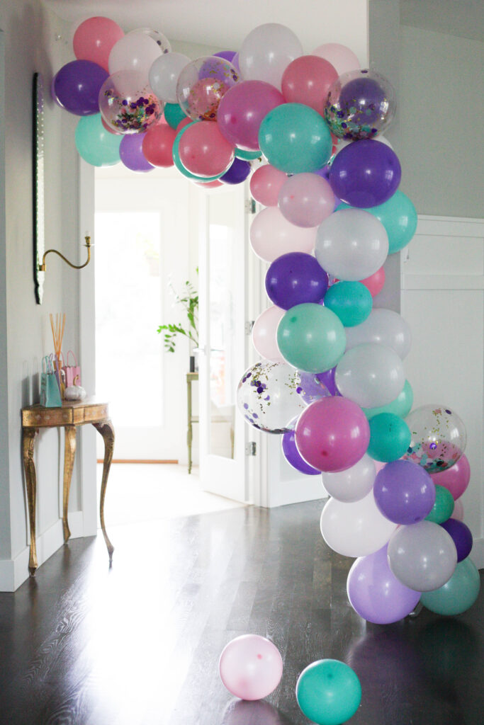 Unicorn balloon garland