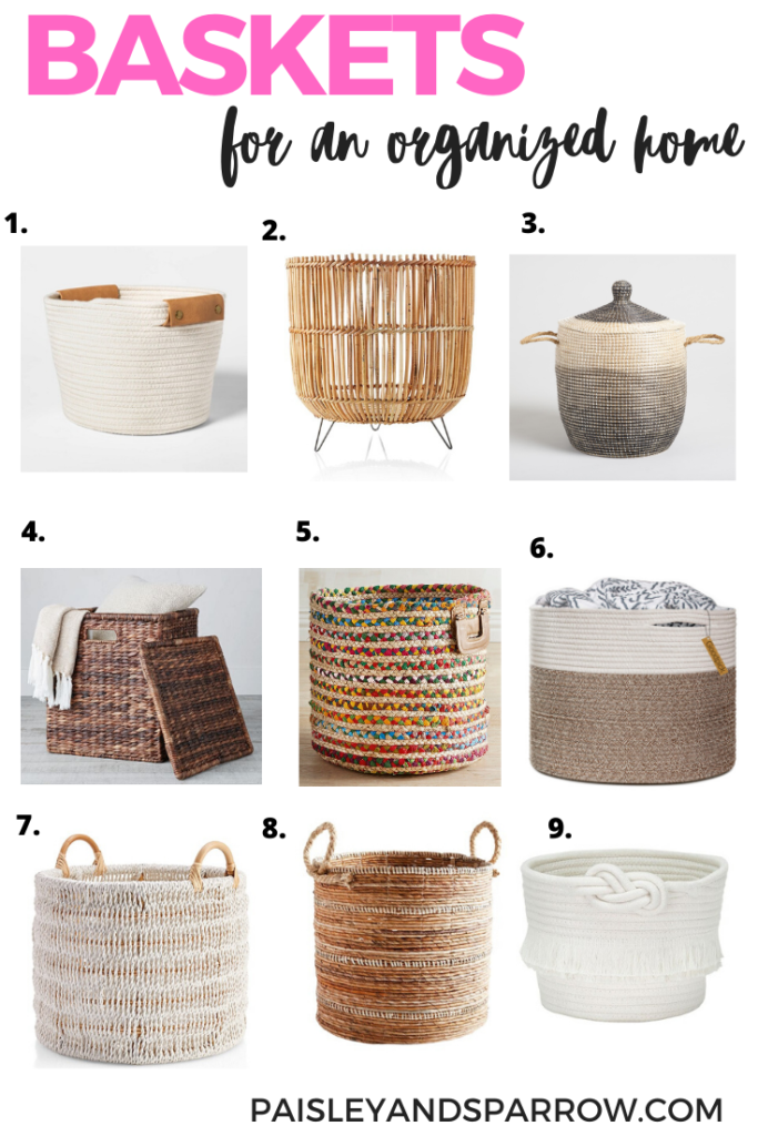baskets for an organized home