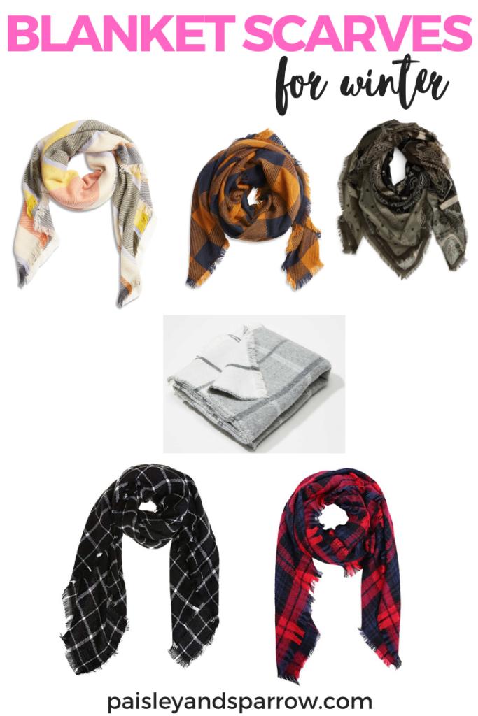 6 different blanket scarves for winter