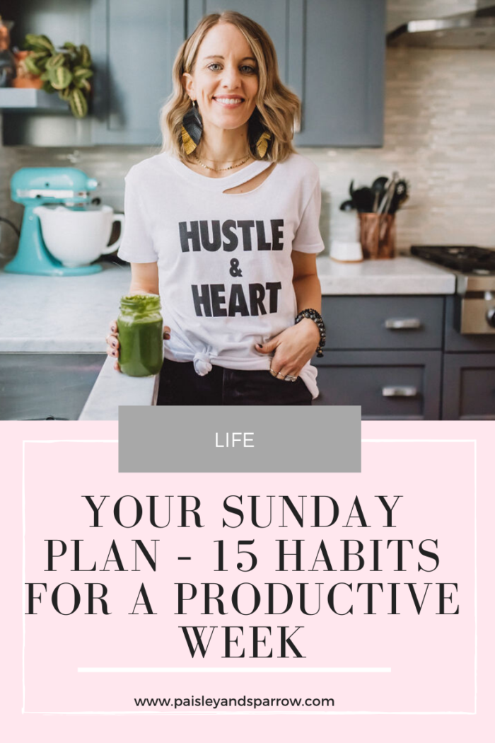 Your Sunday Plan – 15 Habits For a Productive Week