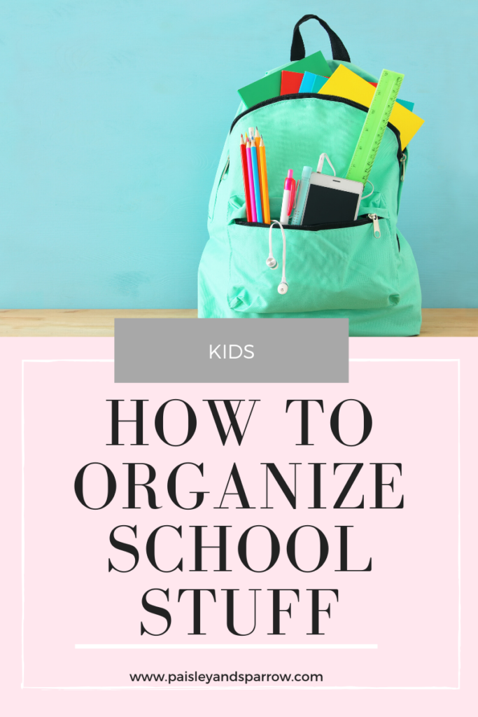 Purging + Organizing School Stuff