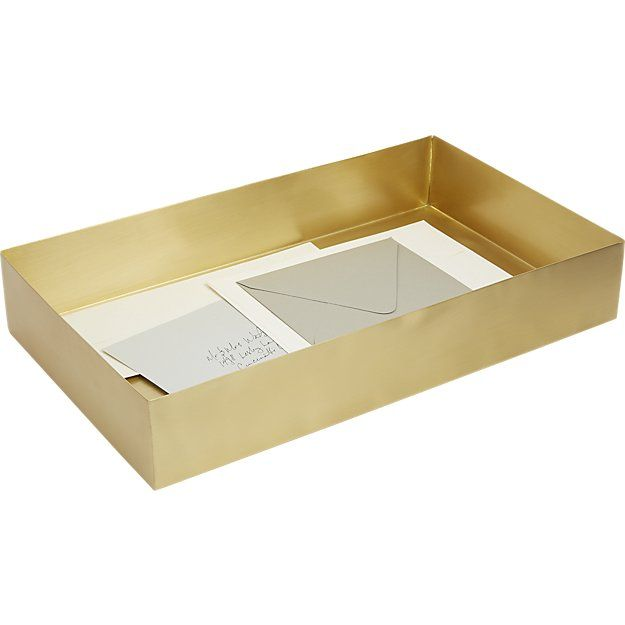 Solid brass tray from cb2