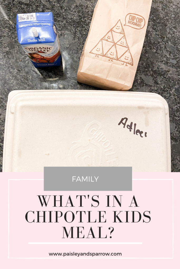 What's in a chipotle kids meal?