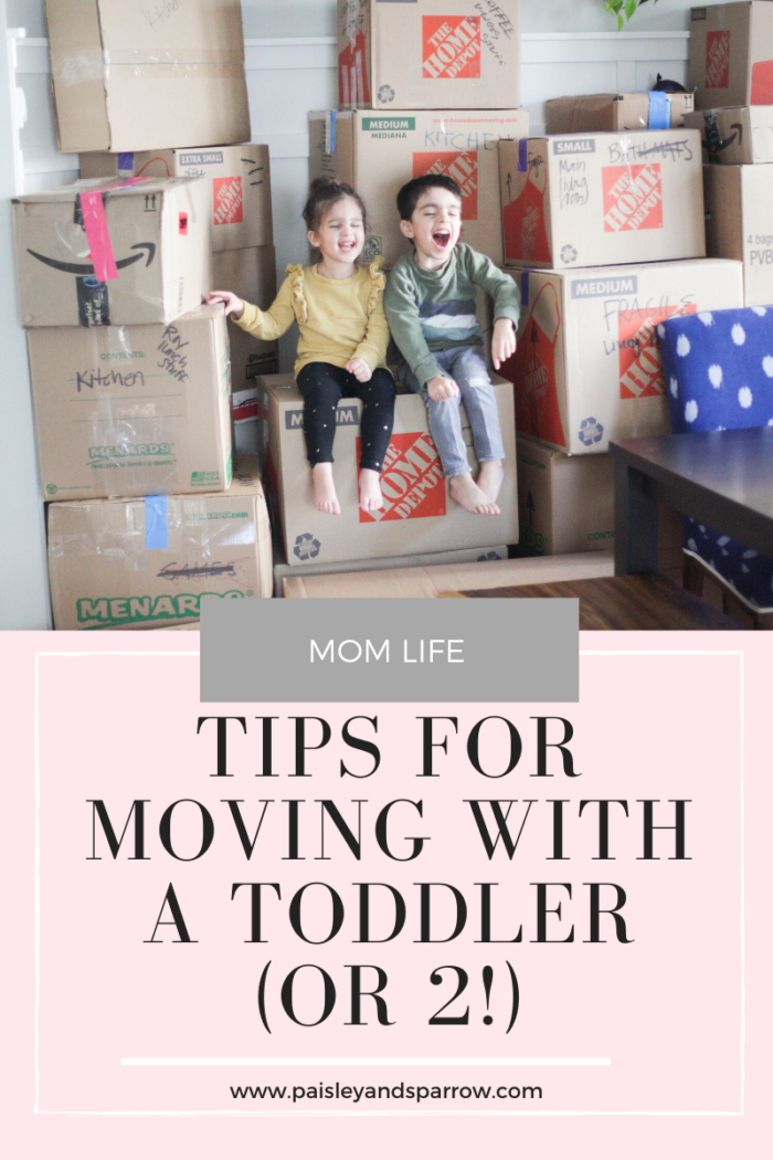 Tips for Moving with A Toddler (or 2!)