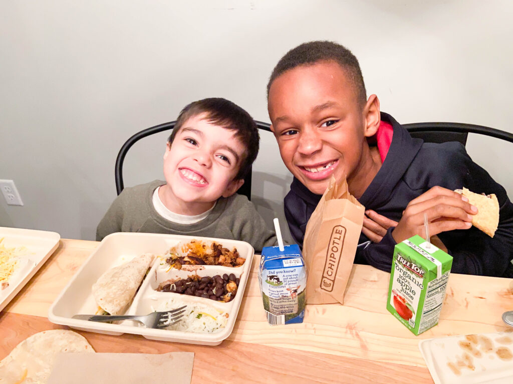 Chipotle kids meals - quesadillas and build your own taco kids meals are great for kids of all ages!