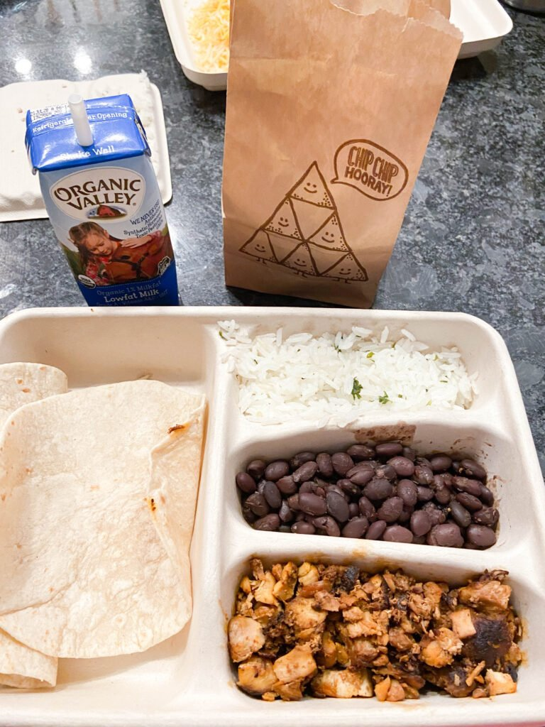 What's inside a Chipotle kids menu - B-Y-O!