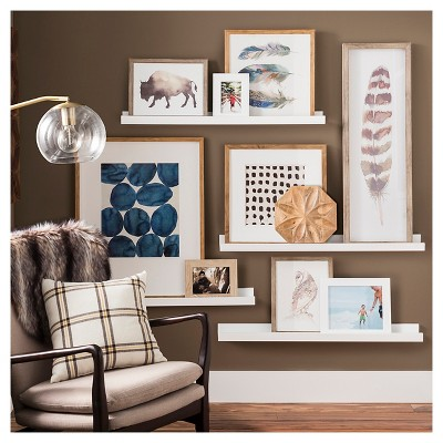 how to make a gallery wall using shelves