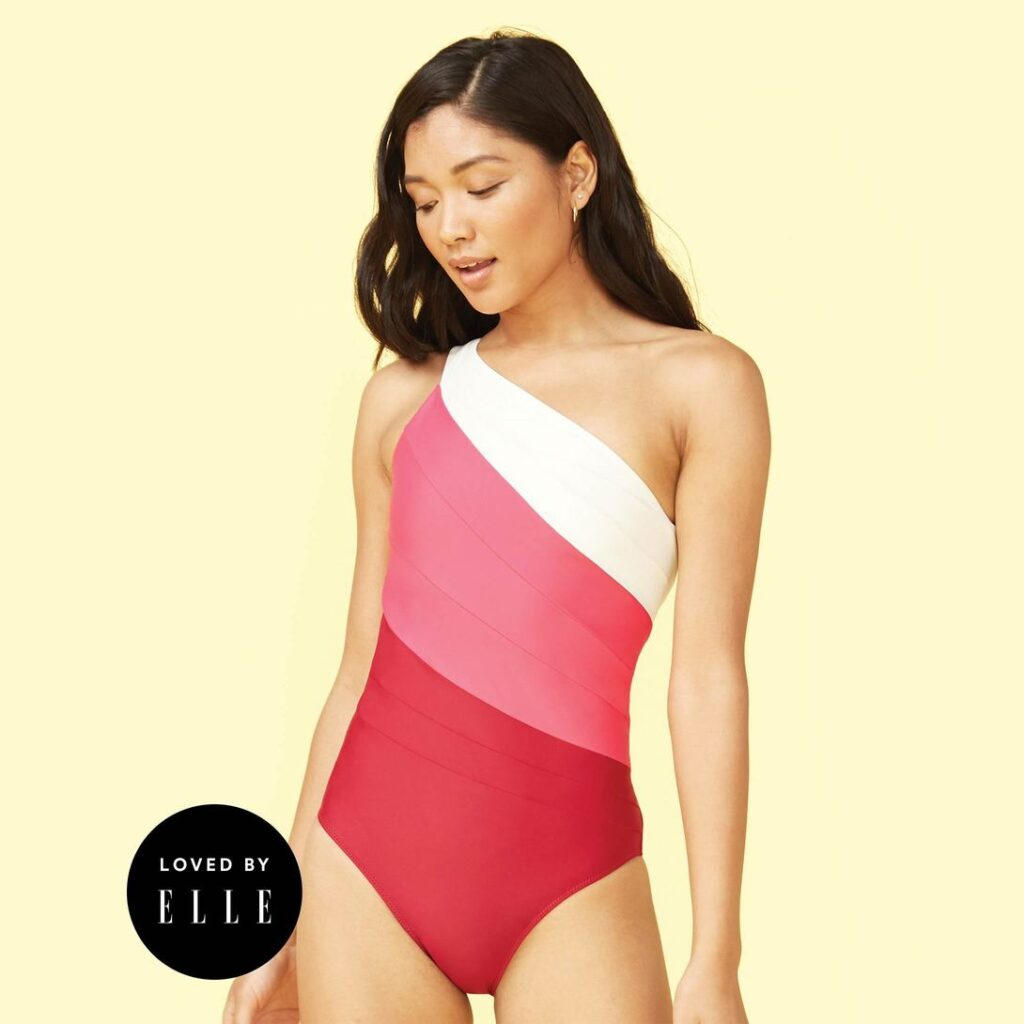 The classic sidestroke swimsuit by Summersalt is well loved by everyone!