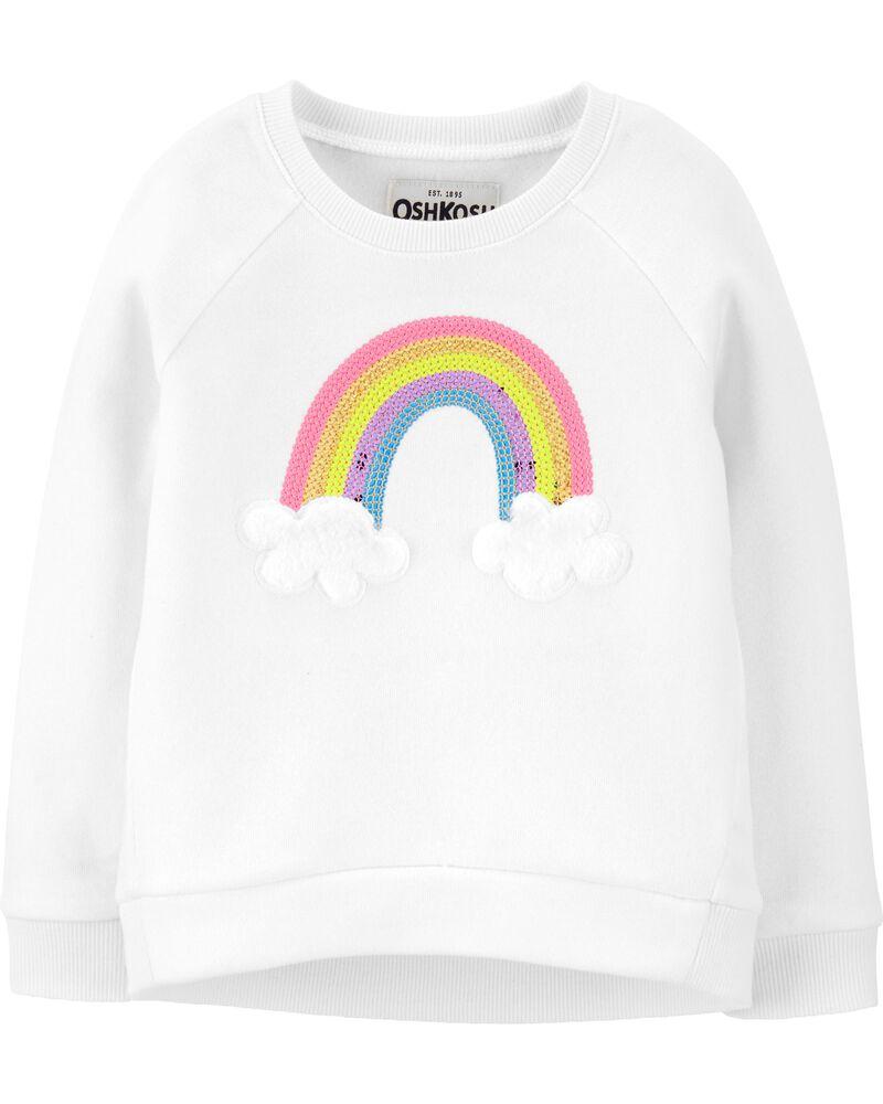 soft cozy sequin rainbow sweatshirt