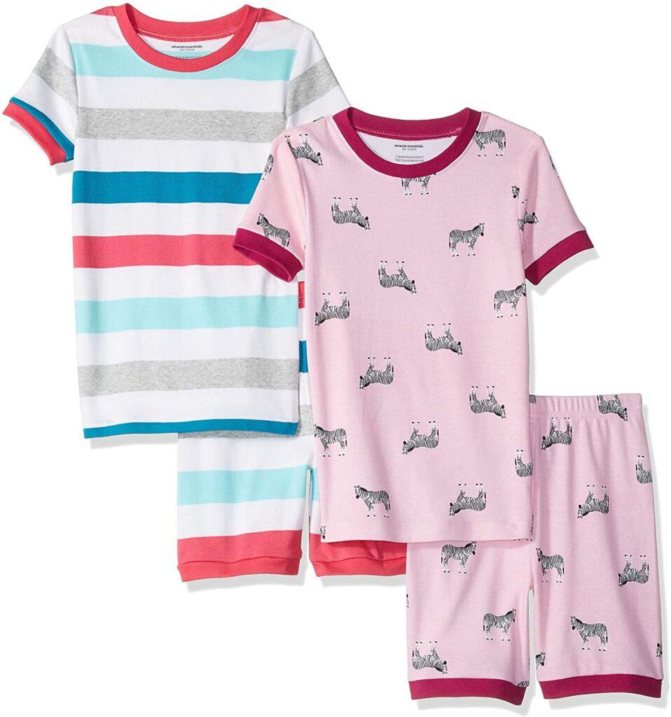 Zebra Stripe 4 Piece Pajamas (Amazon)