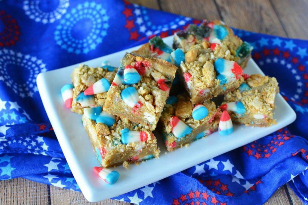 Patriotic Cookie Bars