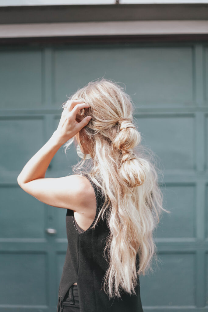 the Easiest Bubble Ponytail Tutorial