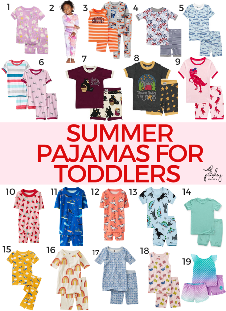 Summer Pajamas for Toddlers