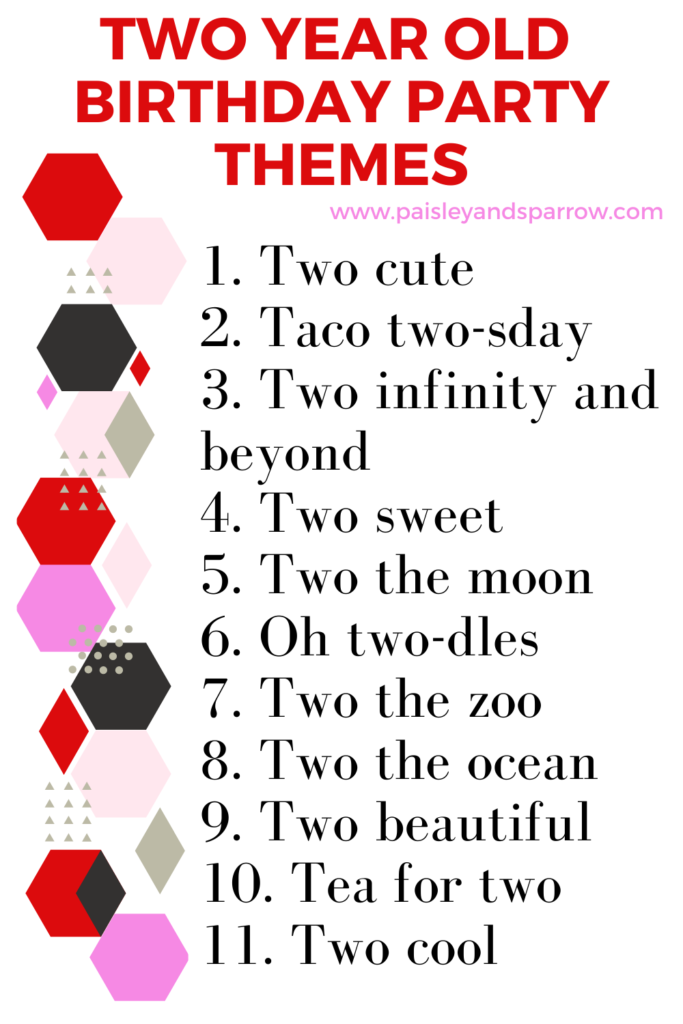2nd Birthday Ideas + 2 year old party themes