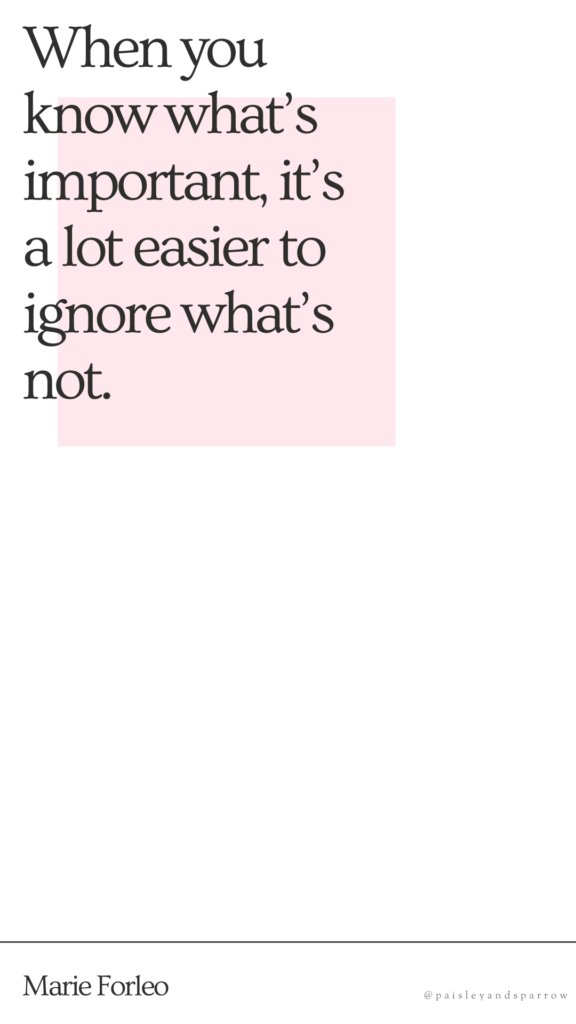 When you know what's important, it's a lot easier to ignore what's not. - mompreneur quotes