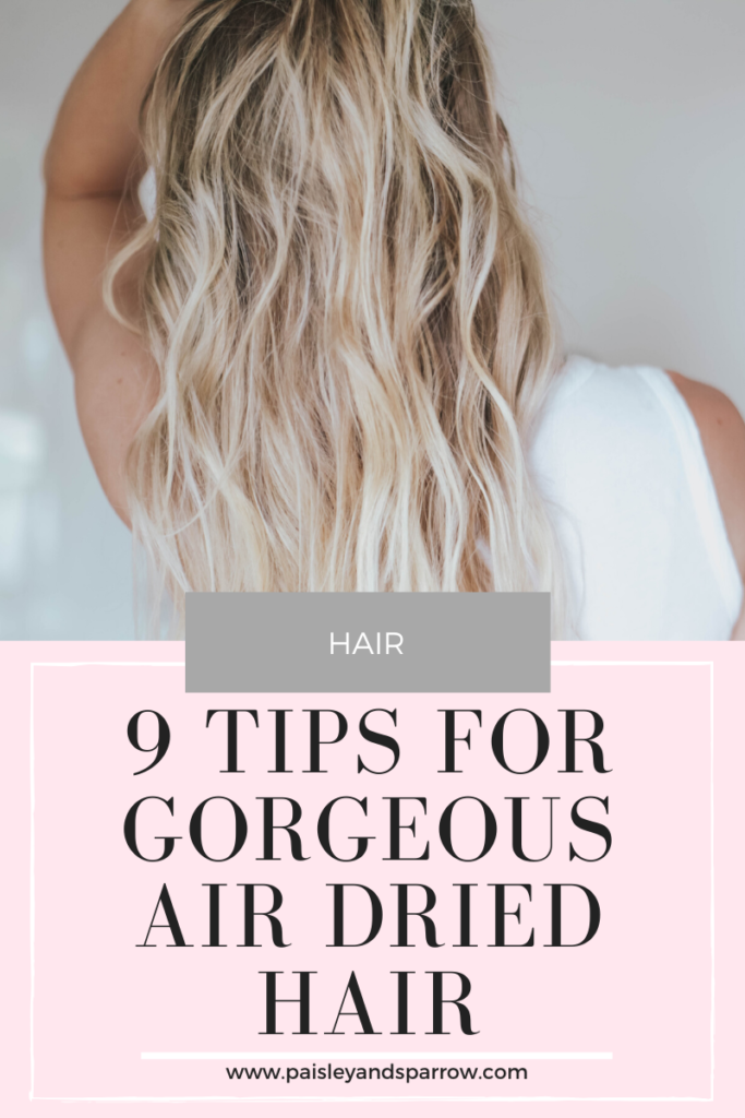 9 Steps to Gorgeous Air Dry Hair