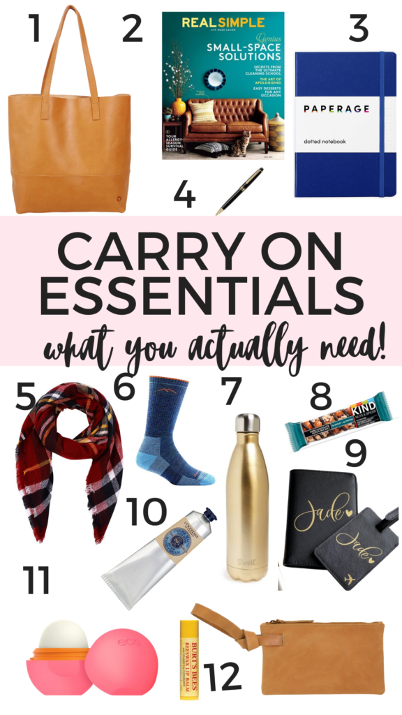 What to Pack in A Carry On - 12 Essentials