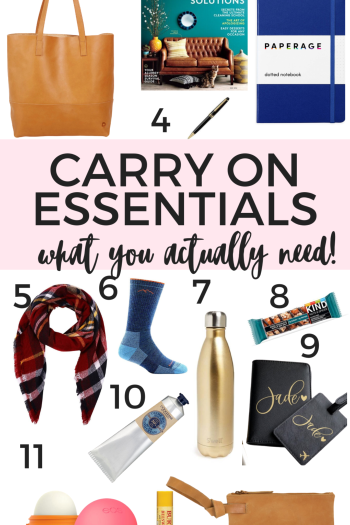 What to Pack in A Carry On – 12 Essentials
