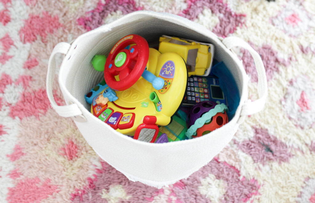 Rotate toys to keep the kids' interest!