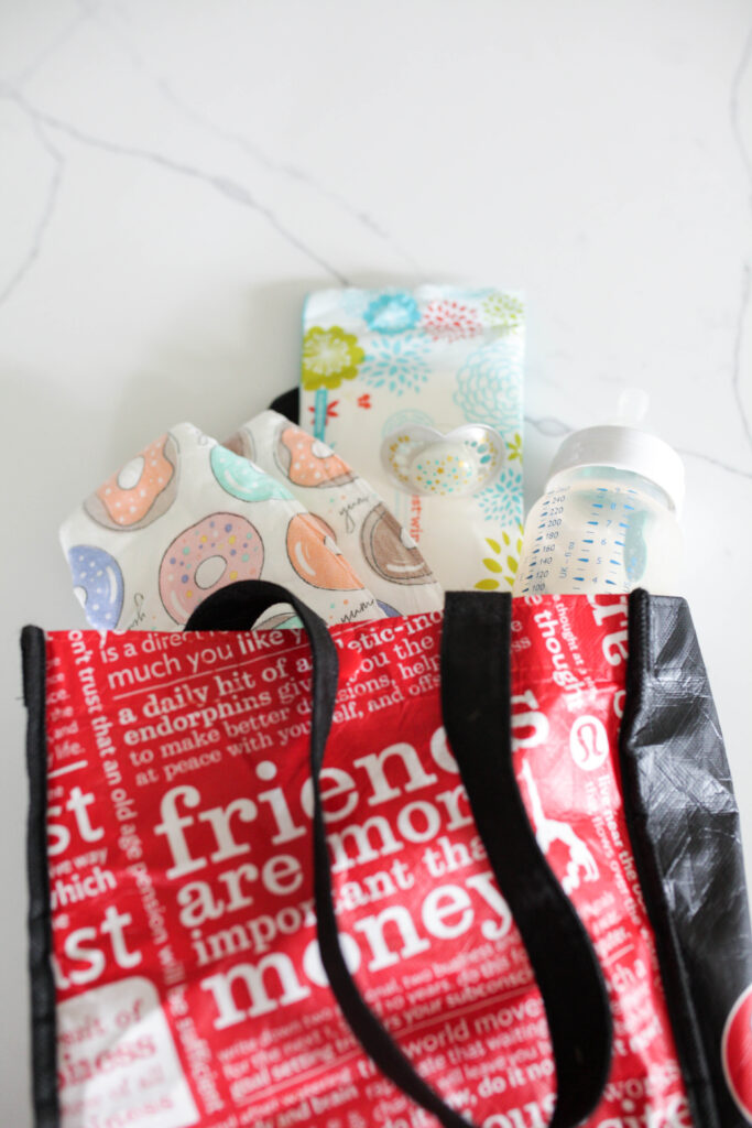 Mom hack - Keep an emergency bag in your car