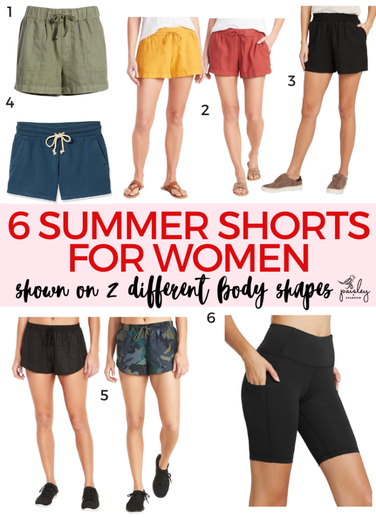 6 Comfy Shorts for Summer - Shown On 2 Different Body Types