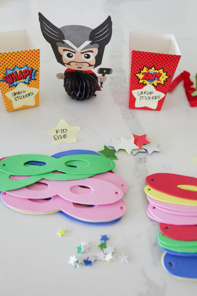 Superhero mask templates for kids to make