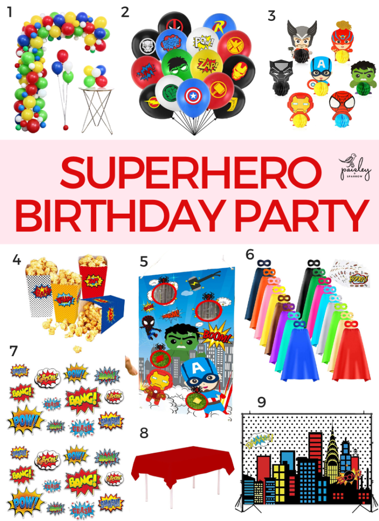 9 Amazon products for a superhero birthday party