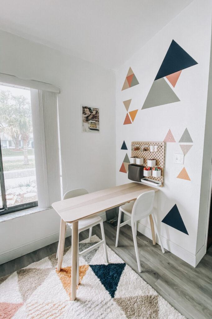 Painted Geometric Wall