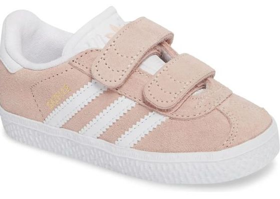 Nordstrom Baby - Adidas Gazelle Sneaker (in Pink and Grey)